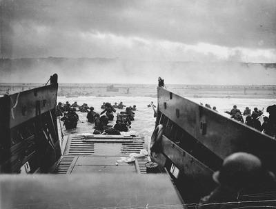 Американская пехота во время высадки