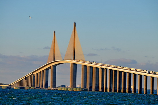 Мост bob graham sunshine skyway bridge