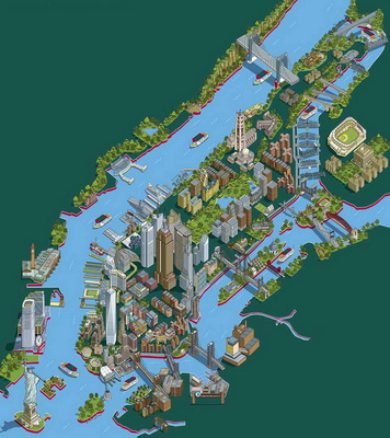 new york tourist attractions map 3d1