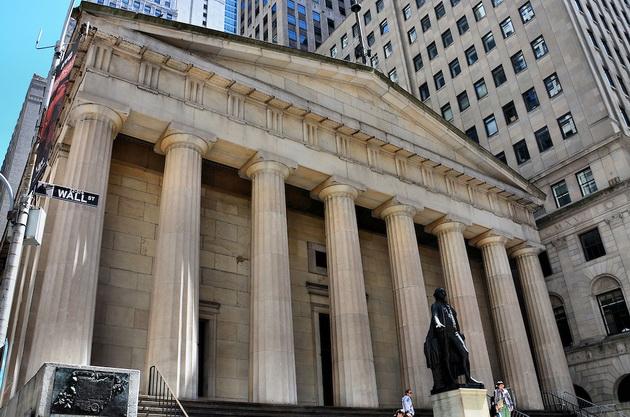 wall street federal hall Уолл-стрит
